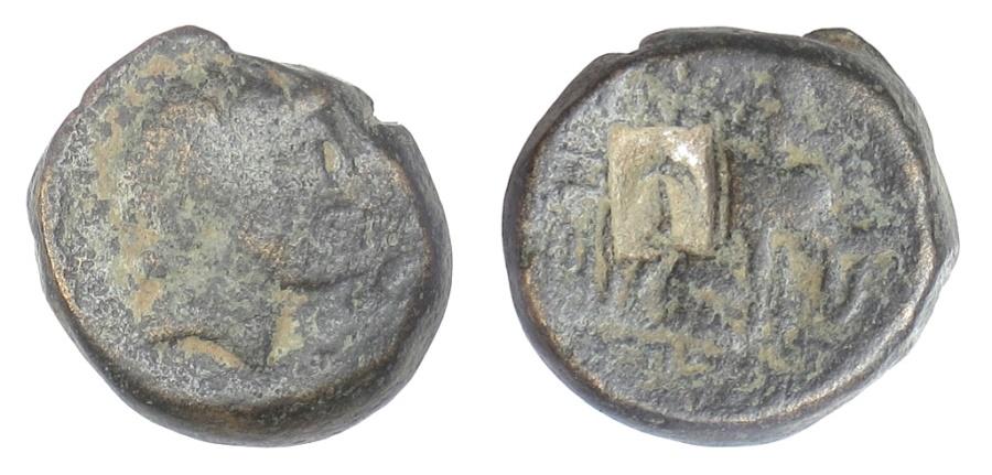 Ancient Coins - SELEUKID KINGS, Antiochos III 'the Great'. AE denom A, c. 202 BC. Scarce. Elephant