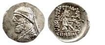 Ancient Coins - KINGS of PARTHIA, Mithradates II. AR Drachm, Ekbatana mint. Struck circa 119-109 BC