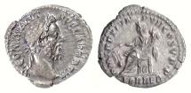 Ancient Coins - Commodus. AR Denarius, Rome mint, struck 186 AD. Fortuna