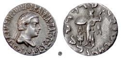 Ancient Coins - BAKTRIA,  Apollodotos II Soter.  AR Drachm, circa 80-65 BC