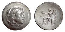 Ancient Coins - Alexander III 'the Great'. AR tetradrachm, Myrina mint, circa 188-170 BC