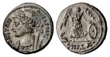Ancient Coins - Constantinople City Commemorative, AE follis, Alexandria mint, 333-337 AD. Victory