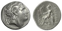 Ancient Coins - KINGS of THRACE, Lysimachos. AR Tetradrachm, Pella mint. Struck 286-281 BC