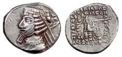 Ancient Coins - PARTHIA, Phraates IV. AR Drachm, Rhagai mint, 37-2 BC