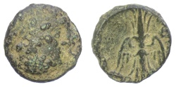 Ancient Coins - SYRIA, Seleukis and Pieria, Seleukeia Pieria. AE 19 mm, 2nd-1st centuries BC.  Zeus / Winged thunderbolt