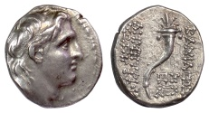 Ancient Coins - SELEUKID KINGS, Demetrios I Soter. AR Drachm. Antioch mint, 152/1 BC. Cornucopia