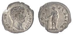 Ancient Coins - HADRIAN. AR denarius, Rome, struck 134-138 AD. Vota Publica