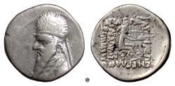 Ancient Coins - PARTHIA,  MITHRADATES II.  AR drachm,  121-91 BC