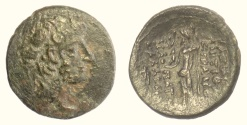 Ancient Coins - SELEUKID KINGS, Antiochos XII Dionysos. AE denomination B. Damaskos mint. Struck 85-83 BC