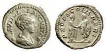 Ancient Coins - Plautilla. AR Denarius, Rome mint. Struck under Caracalla, AD 202