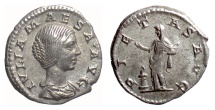 Ancient Coins - Julia Maesa. AR denarius, Rome mint, AD 218-220. Pietas