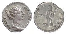 Ancient Coins - Lucilla. AR denarius, Rome. Struck circa AD 164-167. Juno
