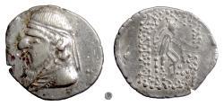 Ancient Coins - PARTHIA,  MITHRADATES II.  AR drachm, Contemporary Eastern imitation