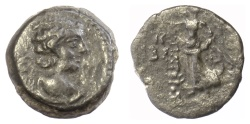 Ancient Coins - SELEUKID KINGS, Antiochos IX Eusebes Philopator. AE denomination B. Uncertain mint, probably in Phoenicia. Struck SE 202 (111/110 BC)