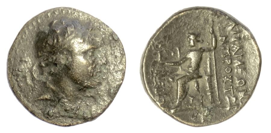 Ancient Coins - SELEUKID KINGS, Antiochos IV. AE denomination B, Apamea, 168-164 BC RARE