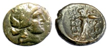 Ancient Coins - THESSALY, Thessalian League. AE Trichalkon, late 2nd-mid 1st centuries BC. Apollo / Athena