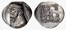 Ancient Coins - PARTHIA, Mithradates II. AR Drachm, Ekbatana mint. Struck circa 109-95 BC
