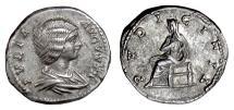 Ancient Coins - JULIA DOMNA. AR denarius, Laodicea ad Mare mint. Struck AD 196-211. Pudicitia