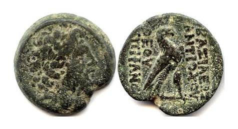 Ancient Coins - SELEUCID KINGS of SYRIA, Antiochos IV Epiphanes. AE 33. Antioch on the Orontes mint, Struck 169-168 BC. SCARCE