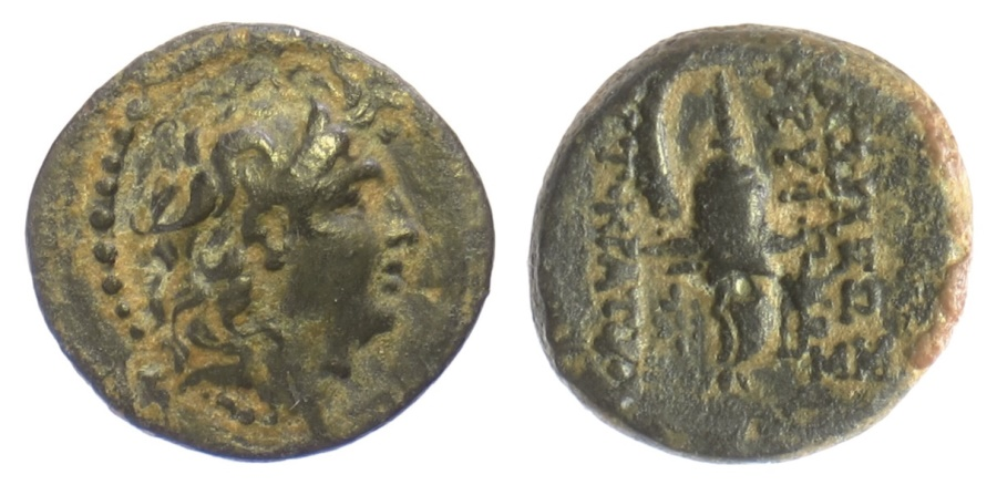 Ancient Coins - SELEUKID KINGS of SYRIA, Tryphon. AE denomiation B/C, Antioch on the Orontes mint, Circa 142-138 BC