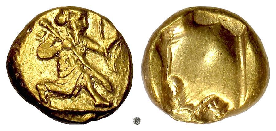 Ancient Coins - PERSIA, Xerxes II to Artaxerxes II. Circa 420-375 BC. Running king / punch