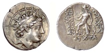 Ancient Coins - SELEUKID KINGS, Antiochos VI Dionysos. AR Drachm. Antioch mint, 143/2 BC