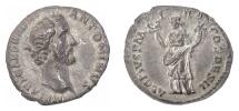 Ancient Coins - ANTONINUS PIUS. AR denarius, Rome, 138 AD. Felicitas
