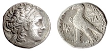 Ancient Coins - EGYPT, Ptolemy XII. AR Tetradrachm, Alexandria mint. Dated RY 27 (55/4 BC)