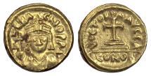 Ancient Coins - BYZANTINE, Heraclius. AV solidus, Carthage mint, year 1 (612/3)