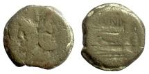 Ancient Coins - Roman Republic, C JUNIUS C F.  AE as, Rome mint. 149 BC
