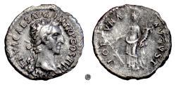 Ancient Coins - NERVA.   AR denarius, Rome mint,97 AD. Fortuna