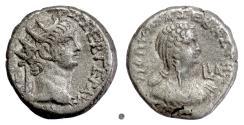 Ancient Coins - NERO & POPPAEA, Egypt, Alexandria.  BI tetradrachm, dated year 11 (64-65 AD)