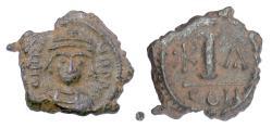 Ancient Coins - BYZANTINE, Maurice Tiberius. AE Decanummium, Constantinople mint, 582-602