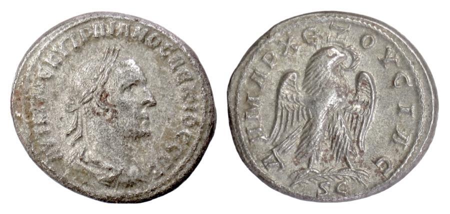 Ancient Coins - TRAJAN DECIUS. SYRIA, Seleukis and Pieria. Antioch. AR Tetradrachm, 249-251 AD