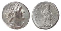 EGYPT, Ptolemy VI. AR Tetradrachm. Uncertain mint (Cyprus?). Dated year 85 (178/7 BC)