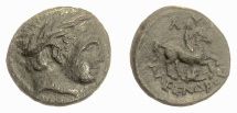 Ancient Coins - KINGS of THRACE, Lysimachos. As Satrap, 323-305 BC. Apollo / Youth on horseback