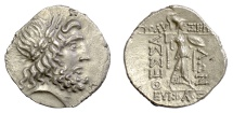 Ancient Coins - THESSALY, Thessalian League. AR Stater, mid-late 1st century BC. Zeus / Athena