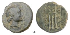 Ancient Coins - SELEUKID, Antiochos III 'the Great'. AE denomination B, Sardes mint, 222-187 BC