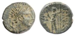 Ancient Coins - SELEUKID KINGS, Antiochos IV. AE denom B, Antioch mint, 173-169 BC