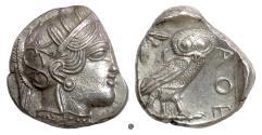 Ancient Coins - ATTICA, Athens. AR Tetradrachm, circa 454-404. Athena / Owl