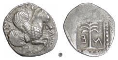 Ancient Coins - TROAS, SKEPSIS.  AR Tetrobol, 4th century BC.  Pegasos /. Fir tree