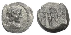 Ancient Coins - SELEUKID KINGS of SYRIA, Antiochos IX. AE denomination C, 111/110 BC. Eros / Nike