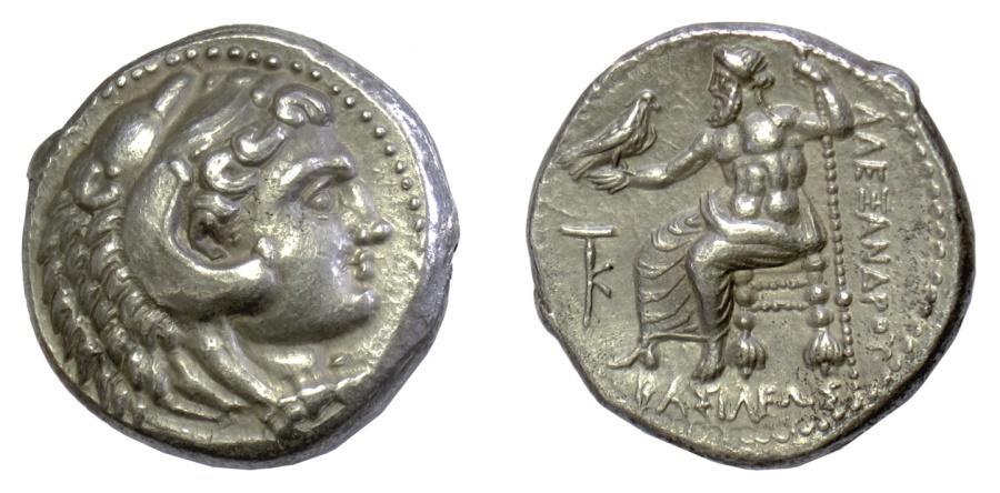 Ancient Coins - Alexander III 'the Great' AR tetradrachm, Citium mint, struck circa 325-320 BC