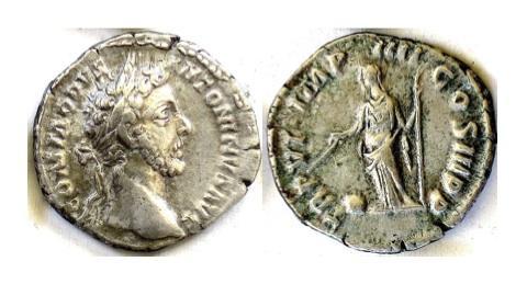 Ancient Coins - COMMODUS.  AR denarius. Rome mint. Struck AD 181