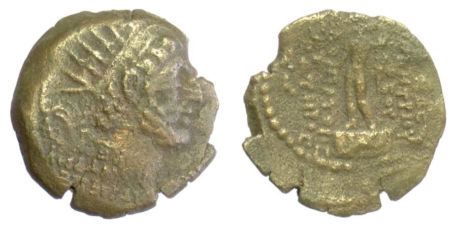 Ancient Coins - SELEUKID KINGS of SYRIA, Demetrios III Eukairos. AE denomination C, Damaskos mint, 97-87 BC