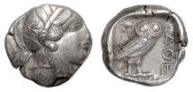 Ancient Coins - ATHENS. AR Tetradrachm, circa 454-404 BC. Athena / Owl