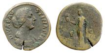 Ancient Coins - Diva Faustina Junior. AE sestertius, Rome, circa 175-176 AD