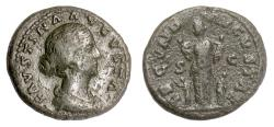 Ancient Coins - Faustina Junior. AE as, Rome mint. Struck under Marcus Aurelius, circa 161-164 AD