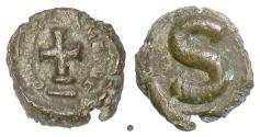 Ancient Coins - BYZANTINE, Heraclius. AE 6 Nummi, Alexandria mint. Struck 613-618 AD
