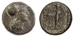 Ancient Coins - SELEUKID KINGS, Seleukos II Kallinikos. AE B. Athena / Nike & anchor